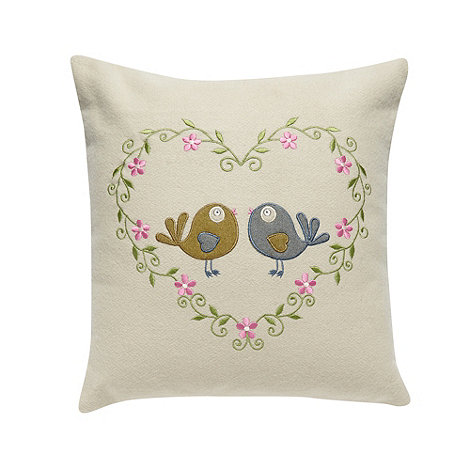 Home Collection - Natural +Love Birds+ cushion