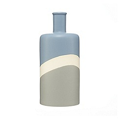 Home Collection - Blue two tone bottle vase
