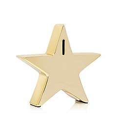 Home Collection - Gold star shaped money box