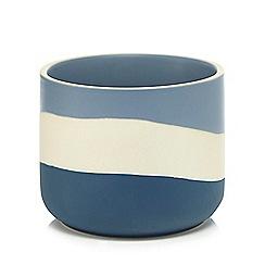 Home Collection - Blue and cream colour block planter