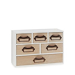 Home Collection - White wood 6 drawer chest