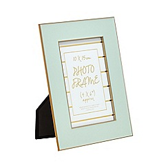 Home Collection - Green 'Cosmo' enamel photo frame