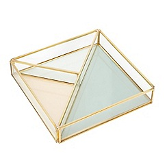 Home Collection - Gold 'Cosmo' jewellery tray