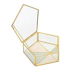 Home Collection - Gold 'Cosmo' jewellery box