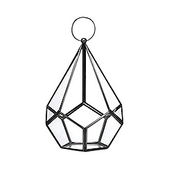 Home Collection - Silver diamond shaped lantern