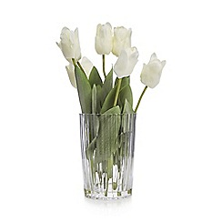 Debenhams - Artificial tulips in a glass vase