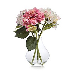 Debenhams - Artificial hydrangeas in a plastic vase