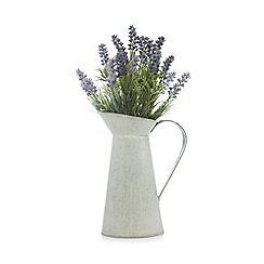 Debenhams - Jug with artificial lavender