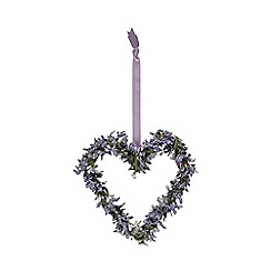 Debenhams - Artificial purple lavender hanging heart