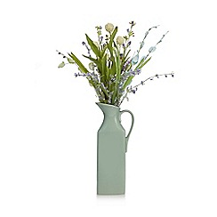Debenhams - Artificial wildflowers in a porcelain jug
