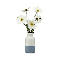 Debenhams - Artificial white small daisy in a ceramic pot
