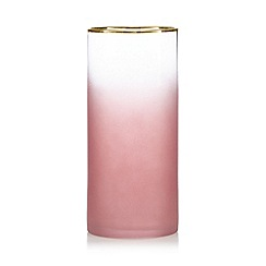 Home Collection - Pink frosted vase