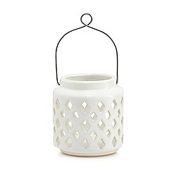 Home Collection - White small ceramic lantern