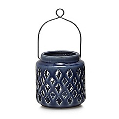 Home Collection - Blue small ceramic lantern