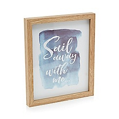 Home Collection - Blue 'Sail Away With Me' wall art