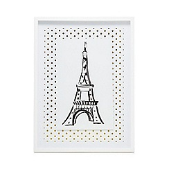 Home Collection - White 'Cosmo' Eiffel tower wall art