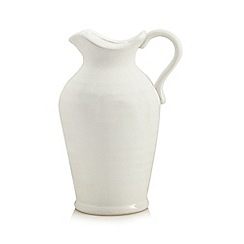 Home Collection - White crackle effect jug vase