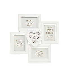 Home Collection - White five aperture photo frame