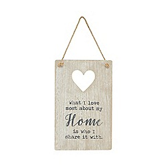 Home Collection - Washed wood 'Home' hanging sign