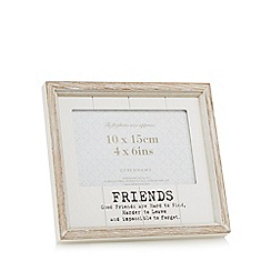 Home Collection - White washed wood friends frame