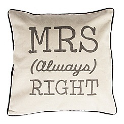Sass & Belle - Mrs Always Right cushion