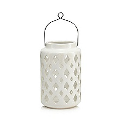 Home Collection - White large ceramic lantern