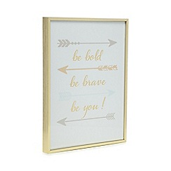 Home Collection - Gold 'Be bold' slogan sign