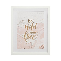 Home Collection - White 'Be Wild And Free' wall art