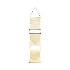 Home Collection - Gold glass three piece sign
