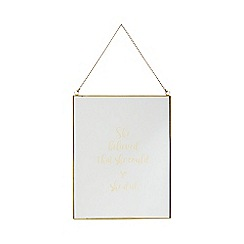 Home Collection - Gold glass 'Cosmo - She Believed That She Could So She Did' sign