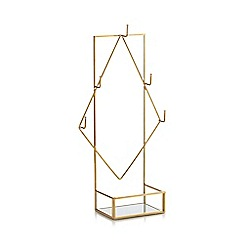 Home Collection - Gold metal 'Cosmo' jewellery stand
