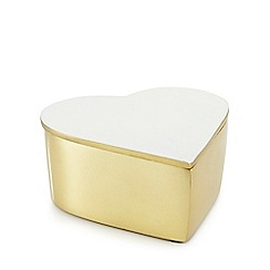 Home Collection - Gold 'Cosmo' heart trinket box