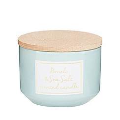 Home Collection - Blue 'Cosmo' pomelo and sea salt scented candle