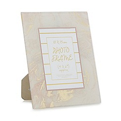 Home Collection - Pink 'Cosmo' marble effect photo frame