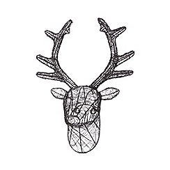 Home Collection - Black wire stag head