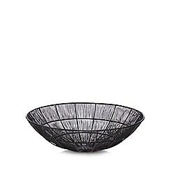 Home Collection - Large black 'Hygge' wire bowl
