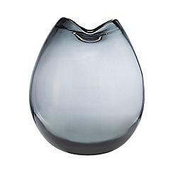 Home Collection - Grey folded smoked vase