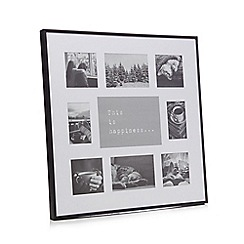 Home Collection - Black nine aperture photo frame