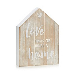 Home Collection - Natural 'Love Makes a House a Home' wall art