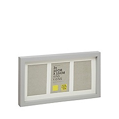 Home Collection - Grey wooden triple photo frame