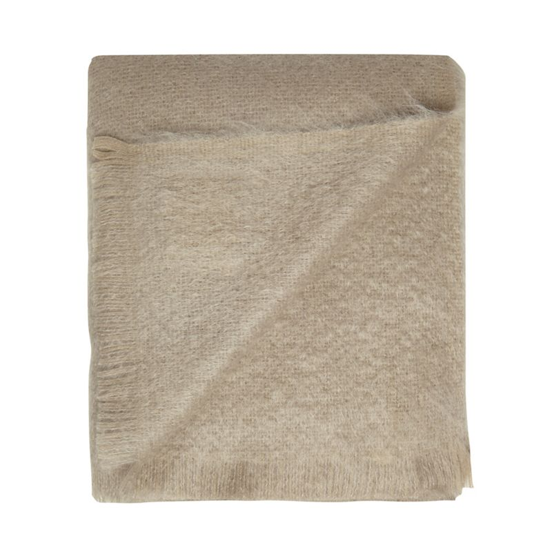 Bronte by Moon Grey mohair and wool 'Squirrel' throw