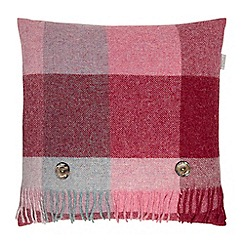 Bronte by Moon - Pink wool 'Shetland Rome' cushion