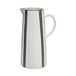 Home Collection - White striped jug