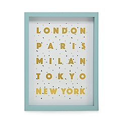 Home Collection - Multi-coloured 'London, New York, Paris' wall art