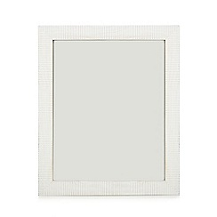 Home Collection - White wooden mirror
