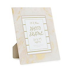 Home Collection - Pink marble effect glass photo frame