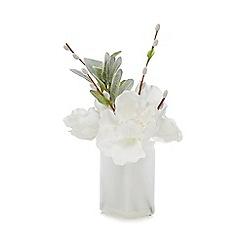 Home Collection - White Christmas artificial flower and vase arrangement