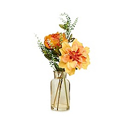 Home Collection - Artificial flowers in a glass vase
