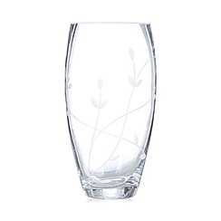 Debenhams - Glass leaf bullet vase