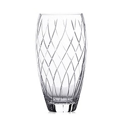 Debenhams - Large cut glass vase